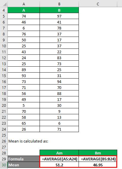Population Variance Formula Example 1-2