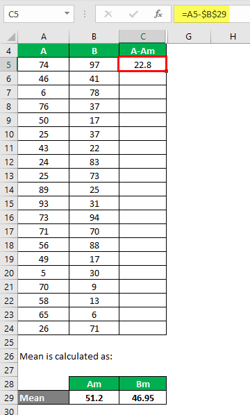 Population Variance Formula Example 1-3