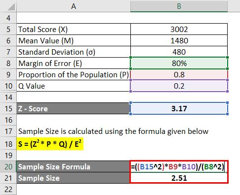 Sample Size Formula Example 1-3