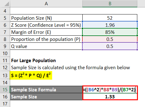 Sample Size For Large Population Example 2-2