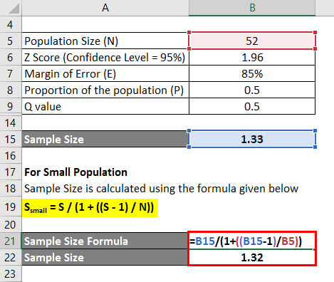 Sample Size For Small Population Example 2-3