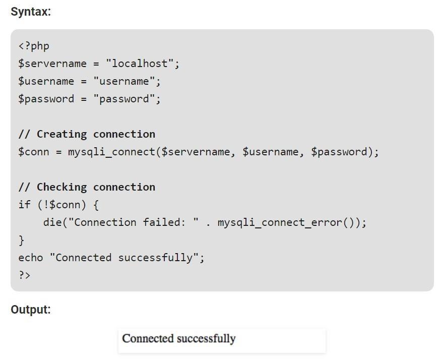 Using MySQLi procedural