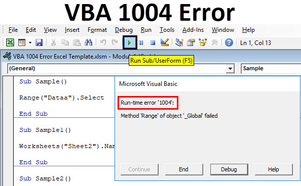 VBA 1004 Error | Top 5 Types of Runtime Error 1004 in Excel VBA