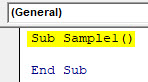 VBA Active Cell Example 2-1