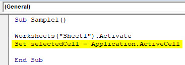 VBA Active Cell Example 2-3