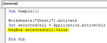 VBA Active Cell Example 2-4