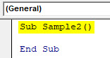 VBA Active Cell Example 3-1
