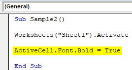 VBA Active Cell Example 3-3
