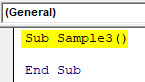 VBA Active Cell Example 4-1