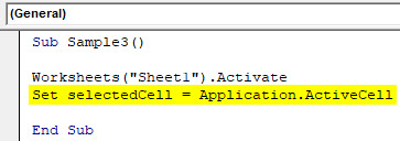 VBA Active Cell Example 4-3