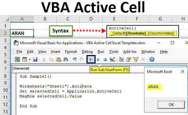VBA Active Cell
