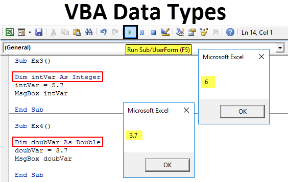 VBA Data Types
