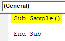 VBA Delete Row Example 1-3