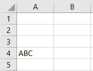 VBA Delete Row Example 4-1