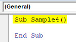 VBA Delete Row Example 5-2