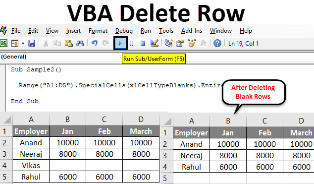 VBA Delete Row