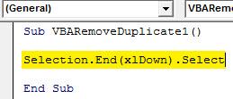 VBA Duplicates example 1.2