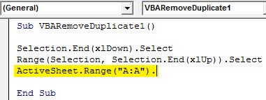 VBA Duplicates example 1.4