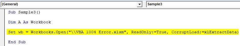 VBA Error 1004 Example 4-4
