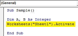 VBA IF NOT Example 1.4
