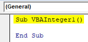 VBA Integer Example 1-2
