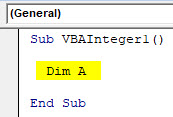 VBA Integer Example 1-3