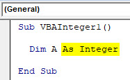 VBA Integer Example 1-4