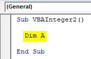 VBA Integer Example 2-2
