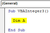 VBA Integer Example 3-2