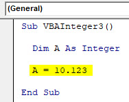 VBA Integer Example 3-4