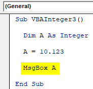 VBA Integer Example 3-5