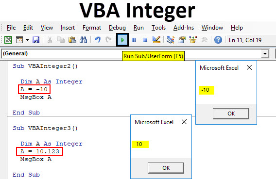VBA Integer