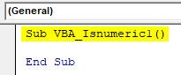VBA IsNumeric Example 1-2