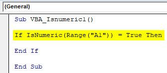 VBA IsNumeric Example 1-4