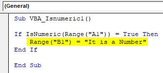 VBA IsNumeric Example 1-5