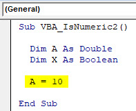 VBA IsNumeric Example 2-4