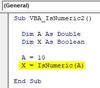 VBA IsNumeric Example 2-5
