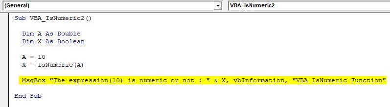 VBA IsNumeric Example 2-6