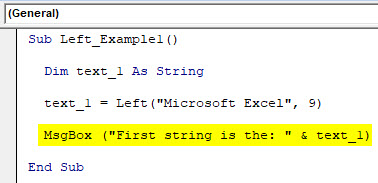 VBA Left Example 1-4