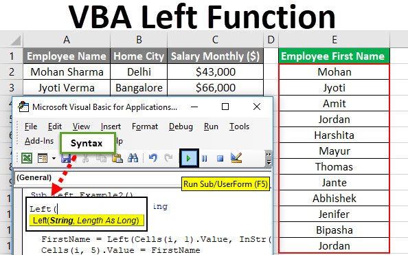 VBA Left Function
