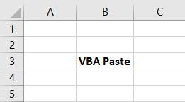 VBA Paste Example 1-1