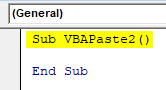 VBA Paste Example 2-1