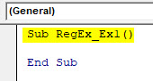 VBA RegEx Example 1-1