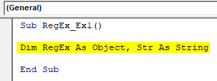 VBA RegEx Example 1-2