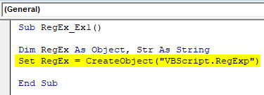 VBA RegEx Example 1-3