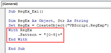 VBA RegEx Example 1-4