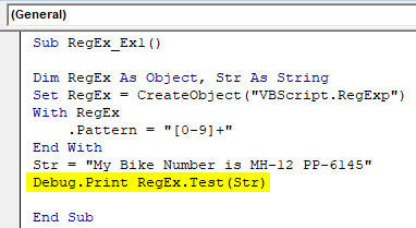 VBA RegEx Example 1-6