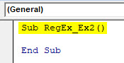VBA RegEx Example 2-1