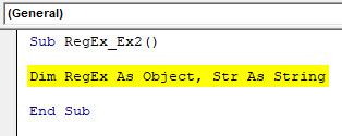 VBA RegEx Example 2-2