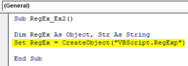 VBA RegEx Example 2-3